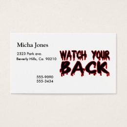 Watch Your Back Business Card