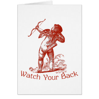 Watch Your Back Greeting Cards