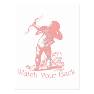 Watch Your Back Post Card