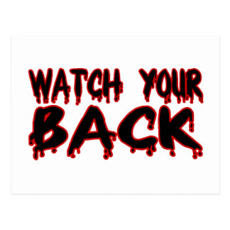 Watch Your Back Postcards