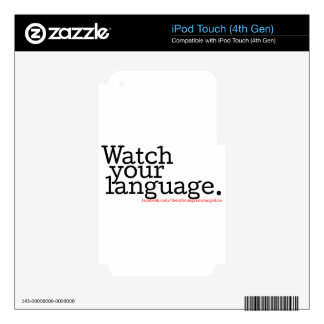 Watch Your Language 2 iPod Touch 4G Decal