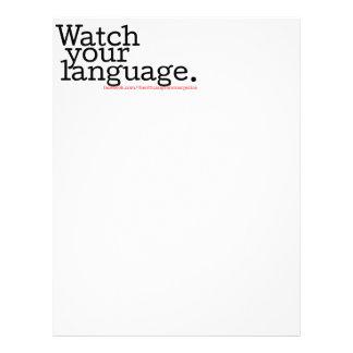 Watch Your Language 2 Letterhead