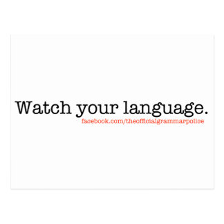 Watch Your Language Postcards