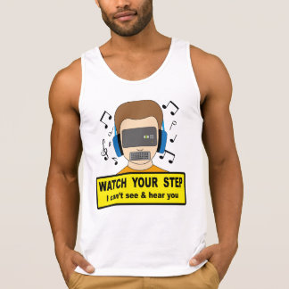 Watch your step tank top