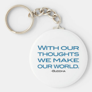 Watch Your Thoughts (be the Buddha) Basic Round Button Keychain