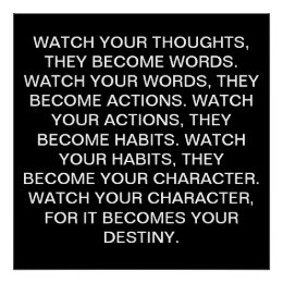 WATCH YOUR THOUGHTS POSTER