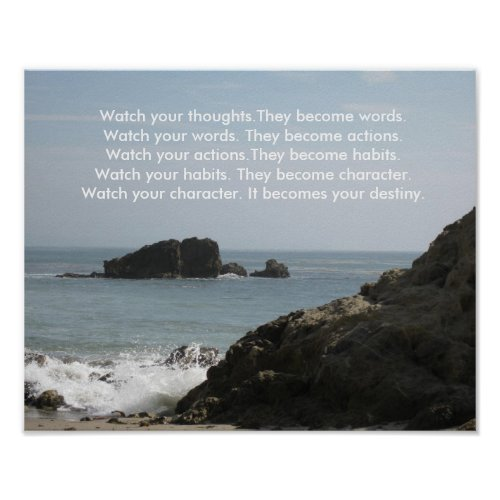Watch your thoughtsThey become words Poster