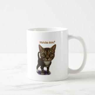 Watcha doin? classic white coffee mug
