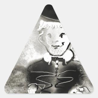 watchb&w triangle sticker
