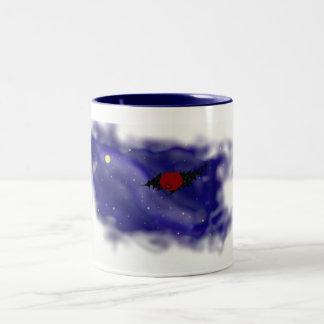 Watcher in the sky Two-Tone coffee mug