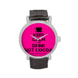 [Cup] keep calm and drink hot cocoa  Watches