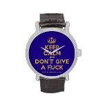 [Dancing crown] keep calm and don't give a fuck  Watches
