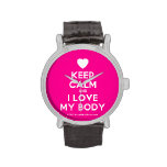 [Love heart] keep calm and i love my body  Watches