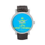 [Crown] keep calm and love west virginia  Watches