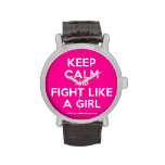 keep calm and fight like a girl  Watches