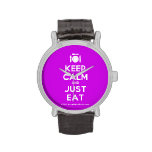 [Cutlery and plate] keep calm and just eat  Watches