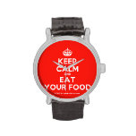 [Crown] keep calm and eat your food  Watches