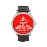 [Crown] keep calm and where the fuck did you come from?!  Watches