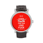[UK Flag] keep calm and run like fuck  Watches