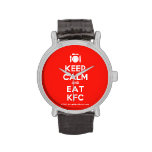 [Cutlery and plate] keep calm and eat kfc  Watches
