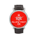 [Crown] keep calm and pillow fight on  Watches