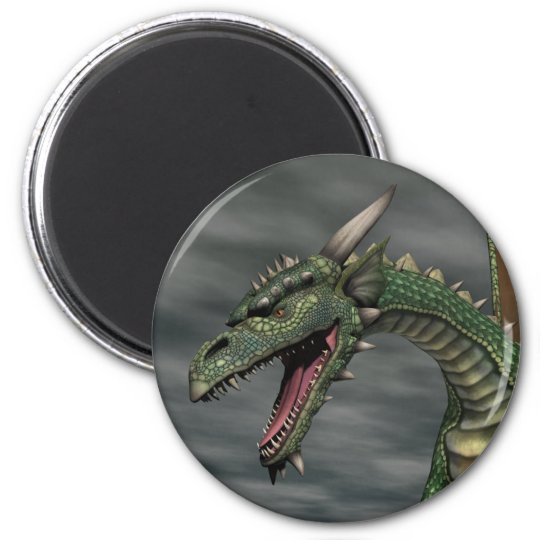 Watchful Dragon 2 Inch Round Magnet