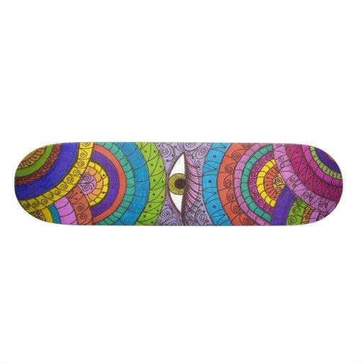 Watchful Eye Mandala Magic Sk8board Skate Board