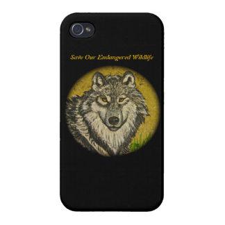 Watchful Eyes Wolf iPhone 4 Case