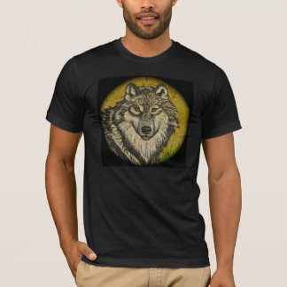Watchful Eyes Wolf T-shirt for Men