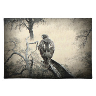 Watchful Hawk Placemat Cloth Place Mat