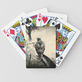 Watchful Hawk Playing Cards