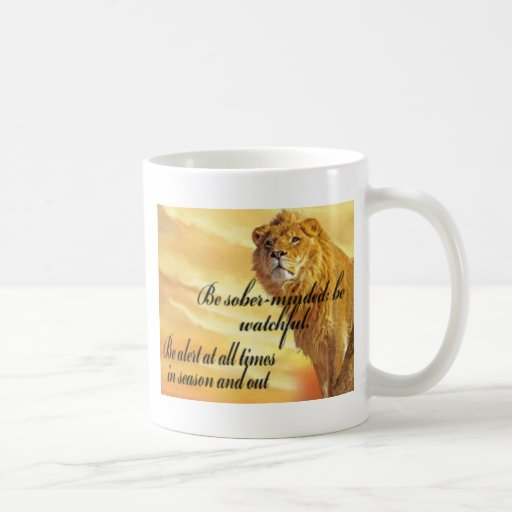 Watchful Lion Classic White Coffee Mug