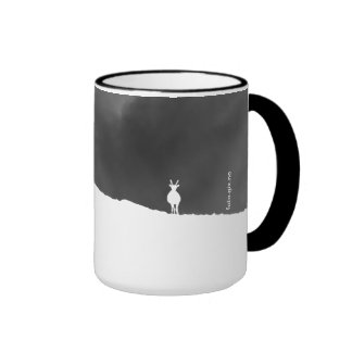 Watchful Reindeer On Ridge Ringer Coffee Mug