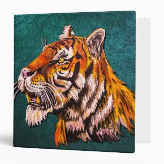 Watchful Tiger Teal Binder