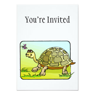 Watchful Turtle 5x7 Paper Invitation Card