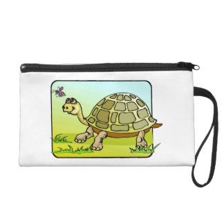 Watchful Turtle Wristlet Purse