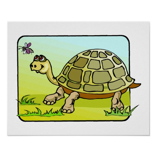 Watchful Turtle Poster