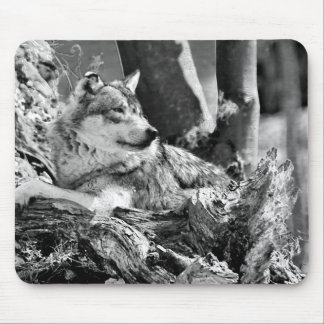 watchful wolf mouse pad