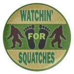Watchin para Squatches Plato De Comida