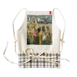 Watching a heritage structure zazzle HEART apron
