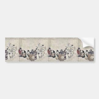 Watching a Manzai performance by Kubo,Shunman Bumper Stickers