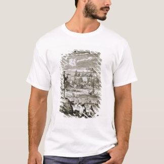 Watching a Sea Battle Through a Telescope, illustr T-Shirt