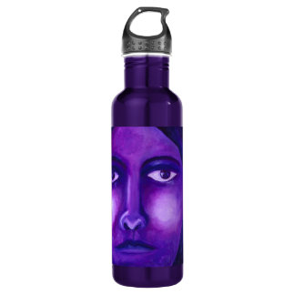 Watching, Abstract Purple Goddess Compassion 24oz Water Bottle