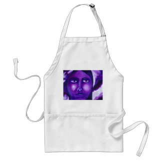 Watching, Abstract Purple Goddess Compassion Apron