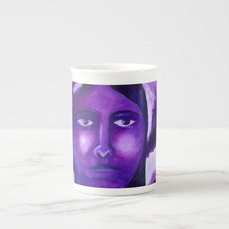Watching, Abstract Purple Goddess Compassion Bone China Mug