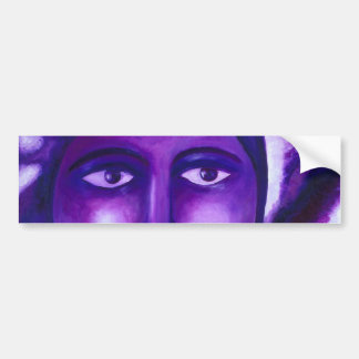 Watching, Abstract Purple Goddess Compassion Bumper Sticker