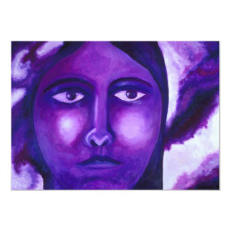 Watching, Abstract Purple Goddess Compassion Card