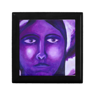 Watching, Abstract Purple Goddess Compassion Jewelry Boxes