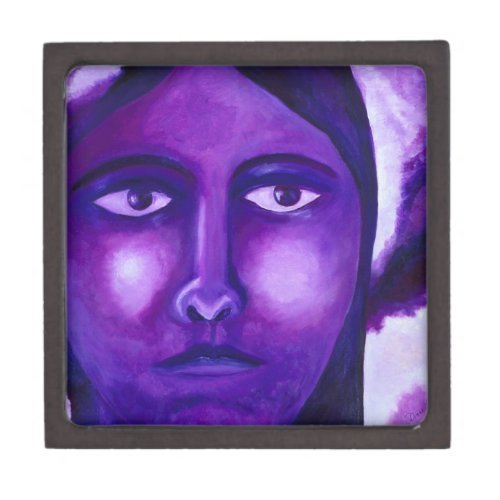 Watching, Abstract Purple Goddess Compassion Gift Box