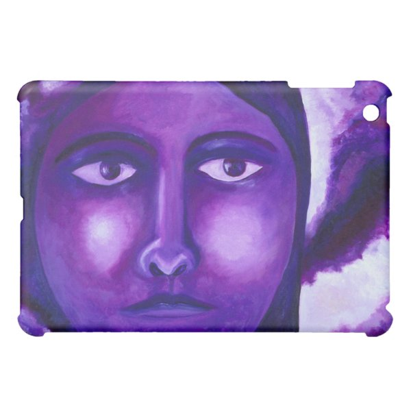 Watching, Abstract Purple Goddess Compassion iPad Mini Cases